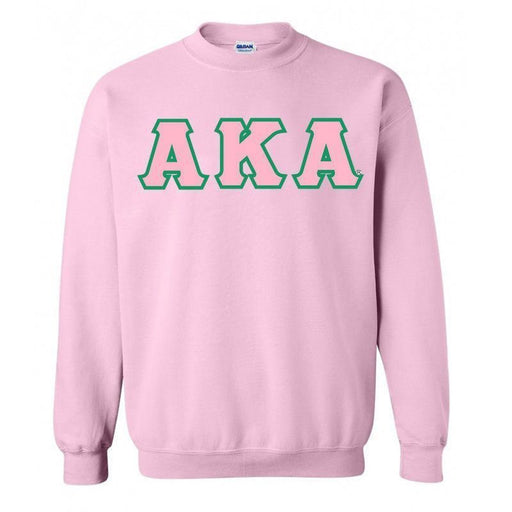 Alpha Kappa Alpha Classic Colors Sewn-On Letter Crewneck