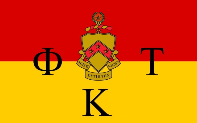 Phi Kappa Tau Fraternity Flag Sticker