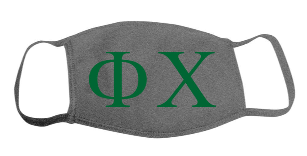 Phi Chi Face Mask With Big Greek Letters