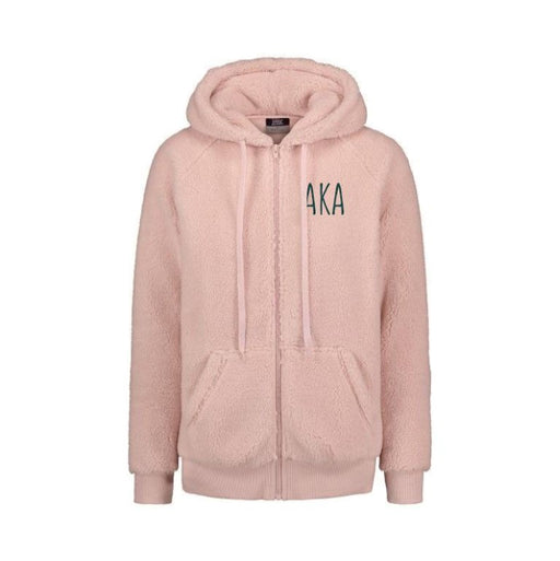 Alpha Kappa Alpha Sorority Full Zip Sherpa With Hood