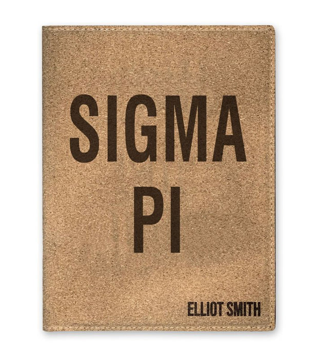 Sigma Pi Cork Portfolio with Notepad