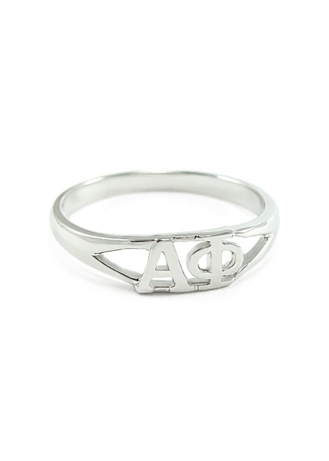 Alpha Phi Sterling Silver Ring