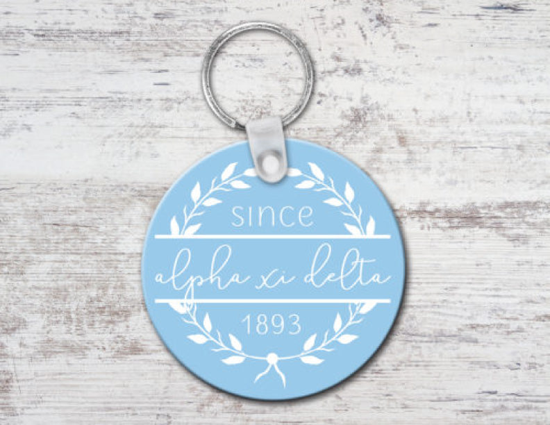 Alpha Xi Delta Since Established Keyring