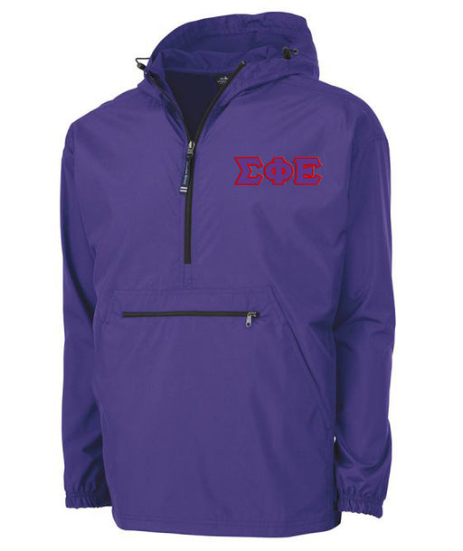 Sigma Phi Epsilon Embroidered Pack and Go Pullover