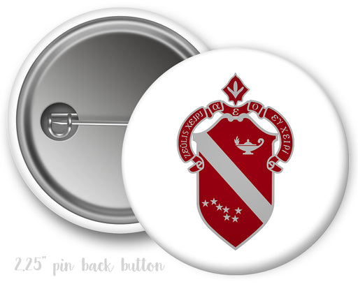 Alpha Phi Color Crest Button