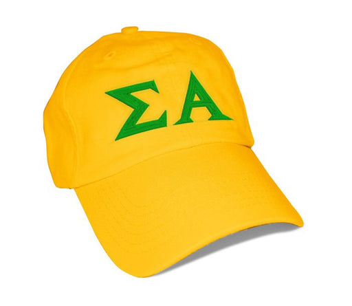 Sigma Alpha Greek Letter Embroidered Hat