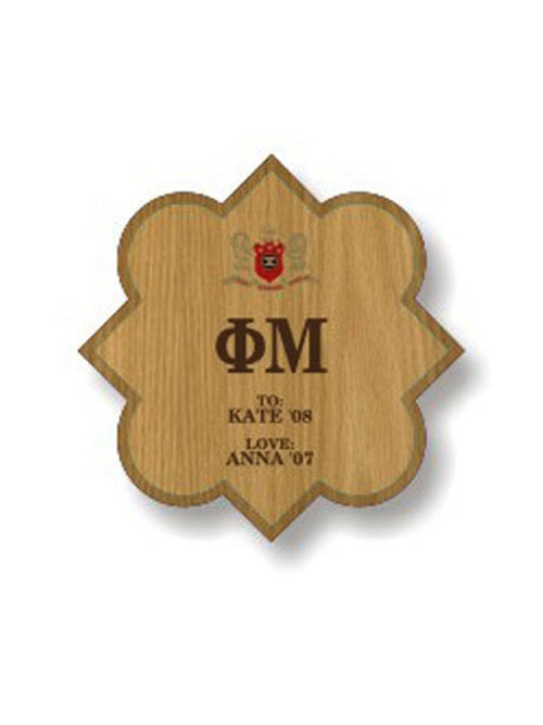 Phi Mu Sorority Plaque