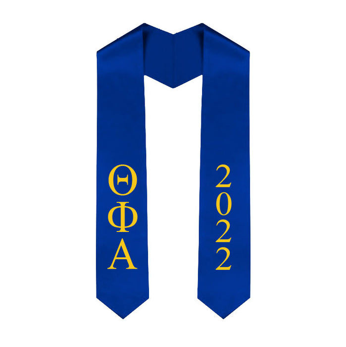 Theta Phi Alpha Vertical Grad Stole with Letters & Year