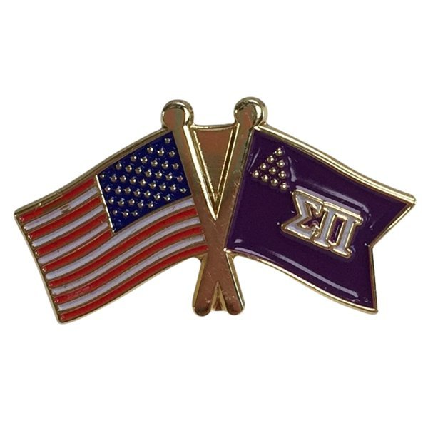 Sigma Pi USA / Fraternity Flag Pin