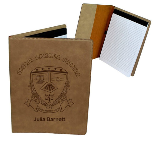 Sigma Lambda Gamma Leatherette Portfolio with Notepad