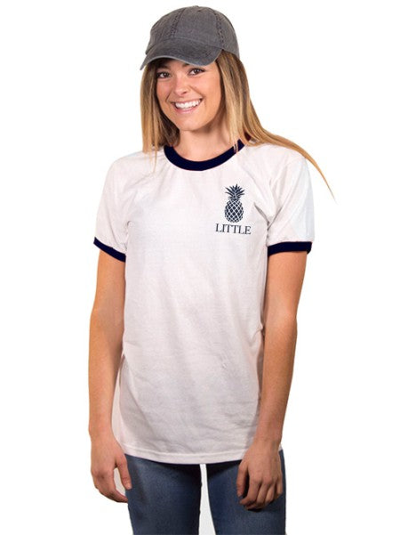 Alpha Chi Omega Little Pineapple Ringer T-Shirt
