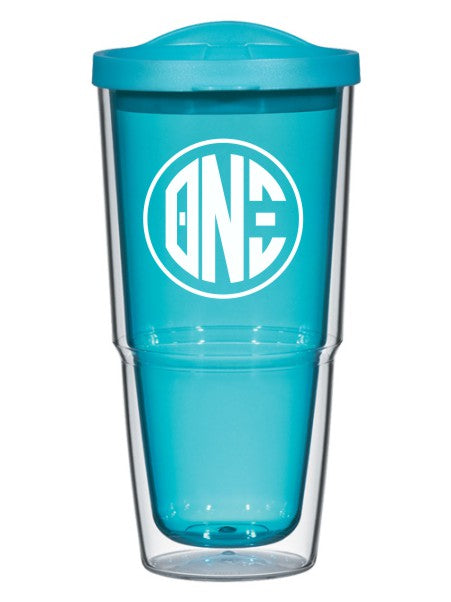 Theta Nu Xi Circle Arrows 24 oz Tumbler with Lid