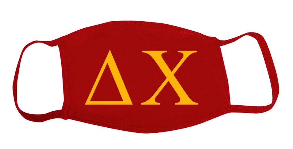 Delta Chi Face Mask With Big Greek Letters