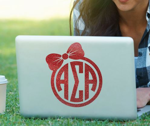 Alpha Sigma Alpha Bow Decal