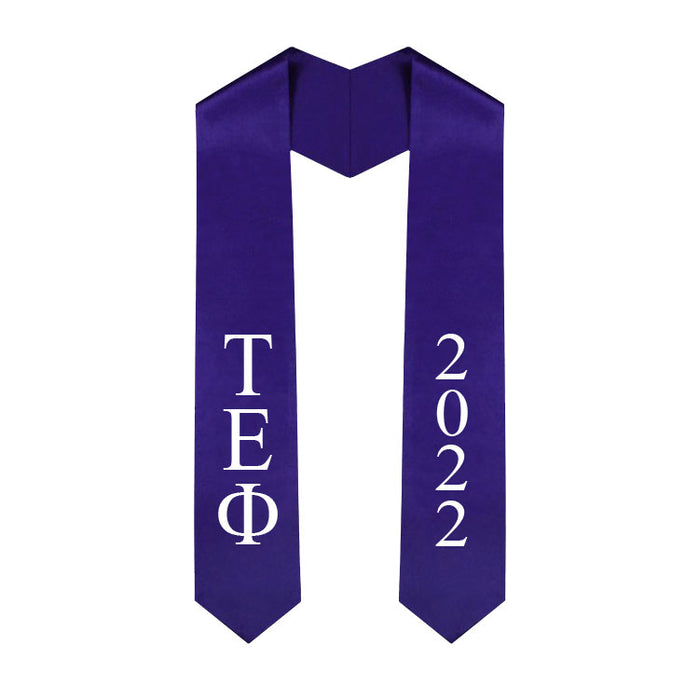 Tau Epsilon Phi Vertical Grad Stole with Letters & Year