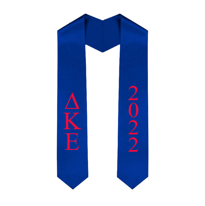Delta Kappa Epsilon Vertical Grad Stole with Letters & Year