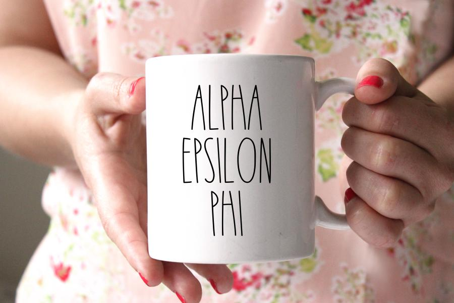 Alpha Epsilon Phi Modern Coffee Mug