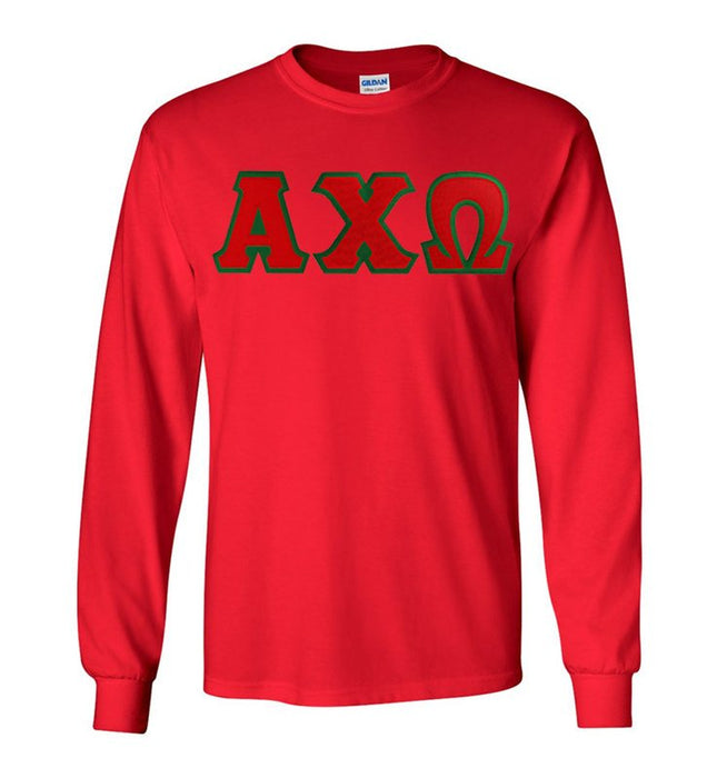 Alpha Chi Omega Long Sleeve Greek Lettered Tee