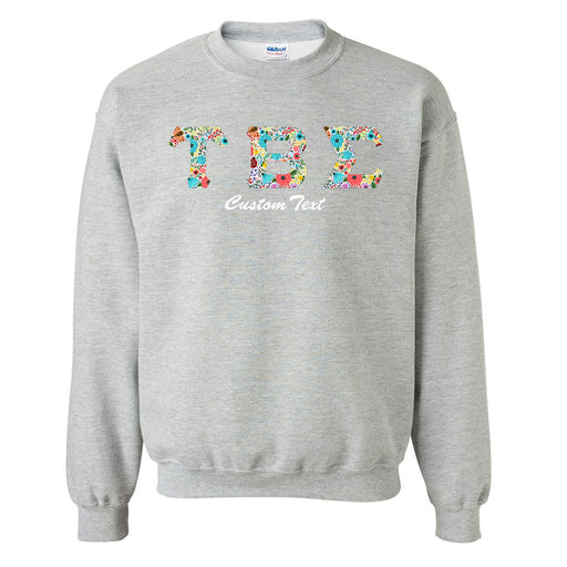 Tau Beta Sigma Crewneck Letters Sweatshirt with Custom Embroidery