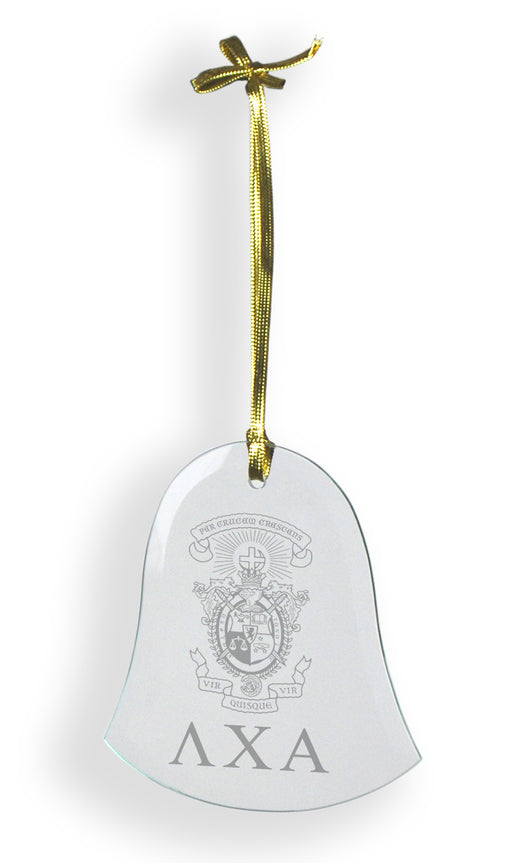 Lambda Chi Alpha Glass Bell Ornament