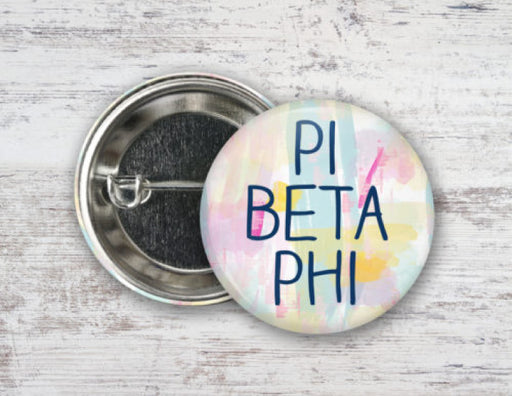 Pi Beta Phi Pastel Strokes Button