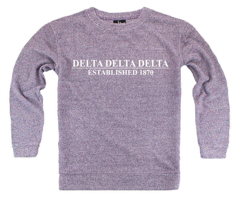 Delta Delta Delta Year Established Cozy Sweater