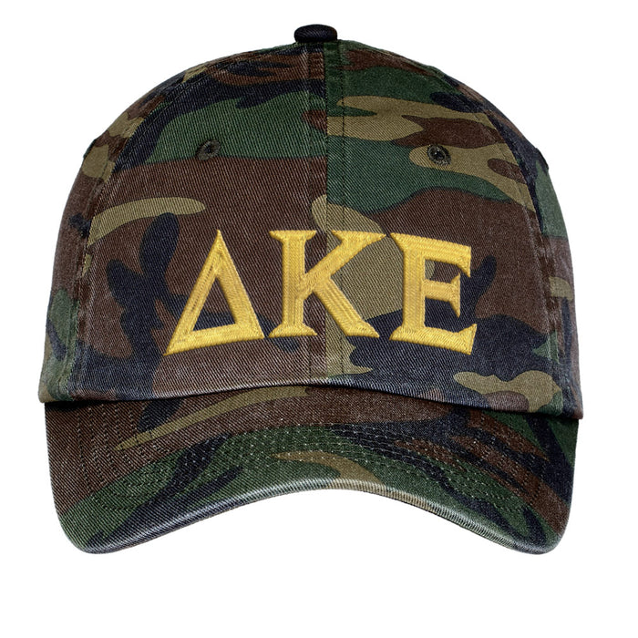 Delta Kappa Epsilon Letters Embroidered Camouflage Hat