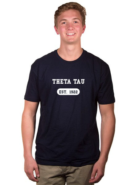 Theta Tau Year Established Jersey Tee
