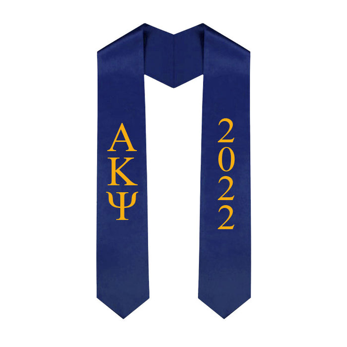 Alpha Kappa Psi Vertical Grad Stole with Letters & Year