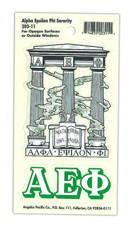 Alpha Epsilon Phi Crest Decal