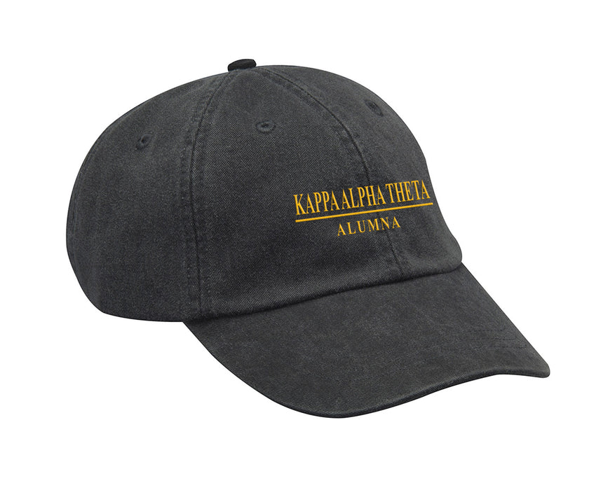 Kappa Alpha Theta Line Year Embroidered Hat
