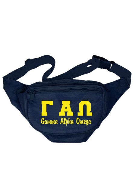 Gamma Alpha Omega Collegiate Letters Fanny Pack