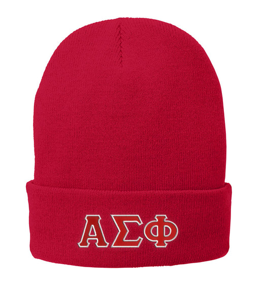 Alpha Sigma Phi Lettered Knit Cap
