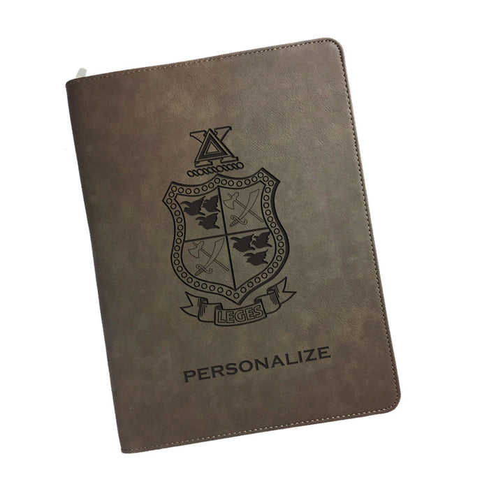 Delta Chi Leatherette Portfolio with Notepad
