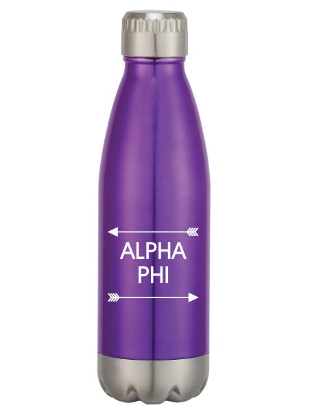 Alpha Phi Arrows Top Bottom Swig Bottle