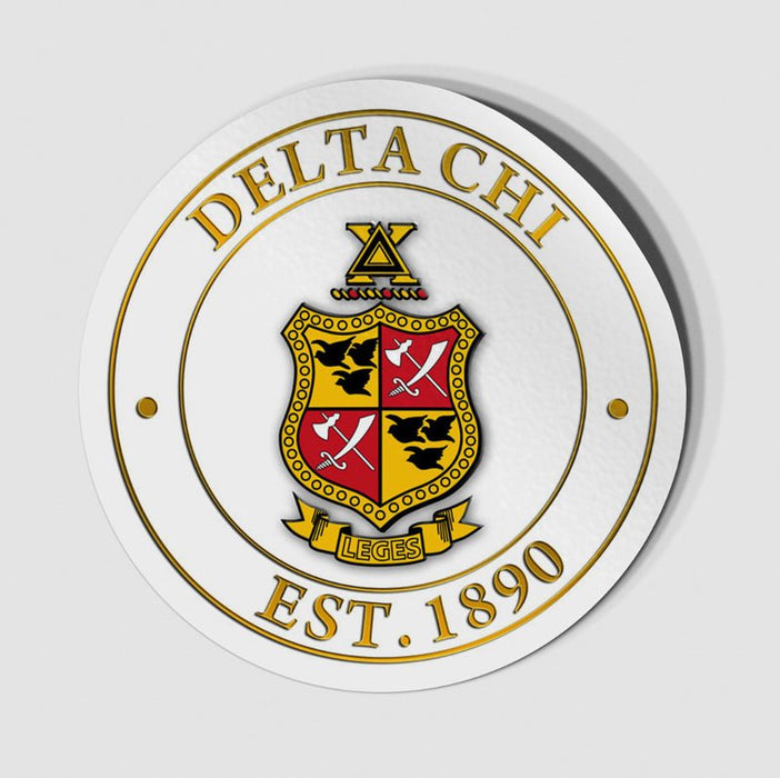 Delta Chi Circle Crest Decal