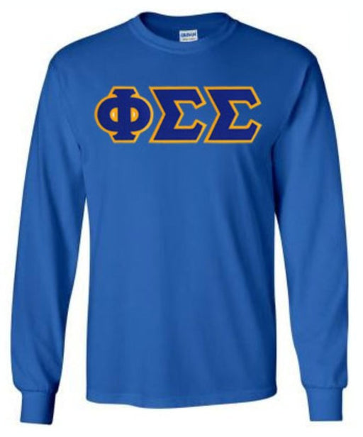 Phi Sigma Sigma Long Sleeve Greek Lettered Tee