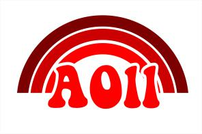 Alpha Omicron Pi End of The Rainbow Sorority Decal