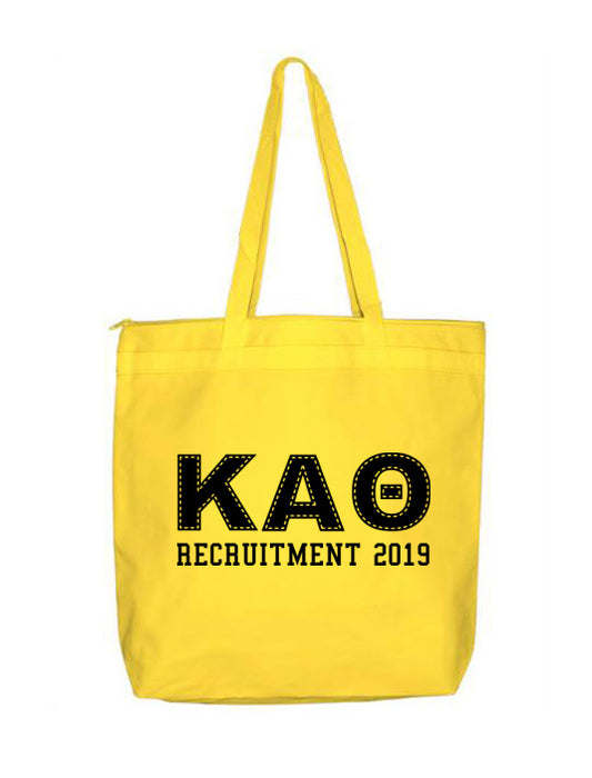 Kappa Alpha Theta Collegiate Letters Event Tote Bag