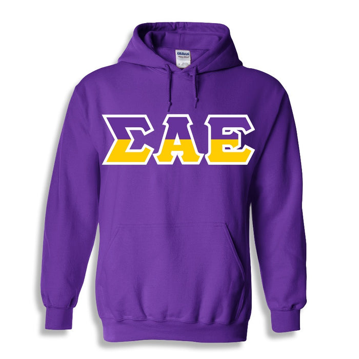 Sigma Alpha Epsilon Two Toned Lettered Hooded Sweatshirt