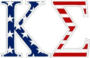 Kappa Sigma American Flag Letter Sticker - 2.5