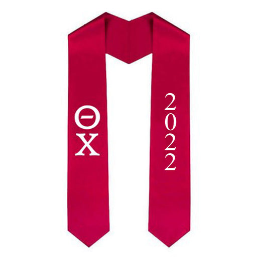 Theta Chi Vertical Grad Stole with Letters & Year