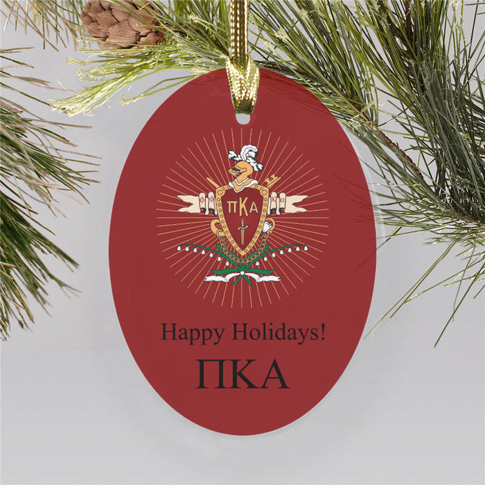 Pi Kappa Alpha Color Crest Ornament