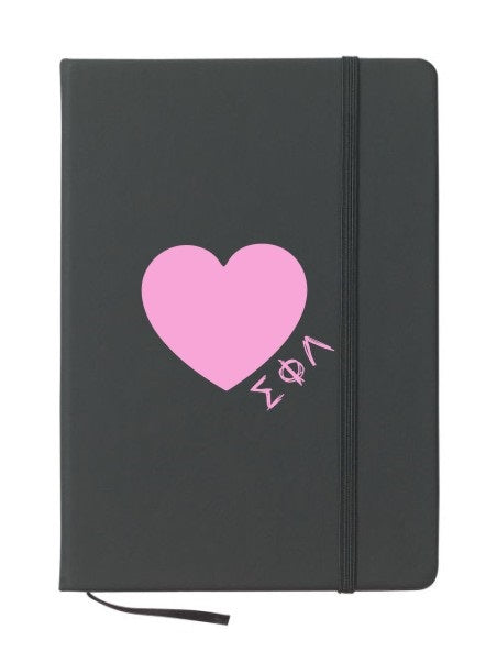 Sigma Phi Lambda Scribble Heart Notebook