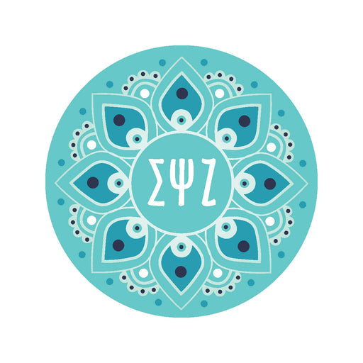 Sigma Psi Zeta Mandala Sticker
