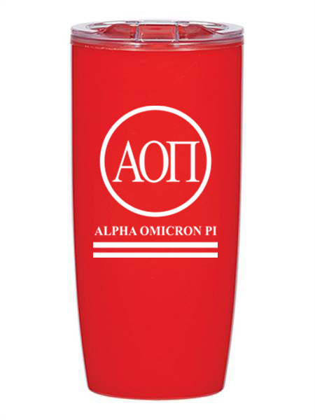 Alpha Omicron Pi Circle Stripes 19 oz Everest Tumbler