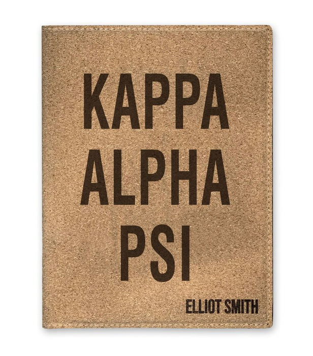Kappa Alpha Psi Cork Portfolio with Notepad