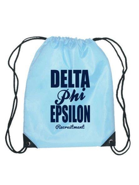 Delta Phi Epsilon Cursive Impact Sports Bag