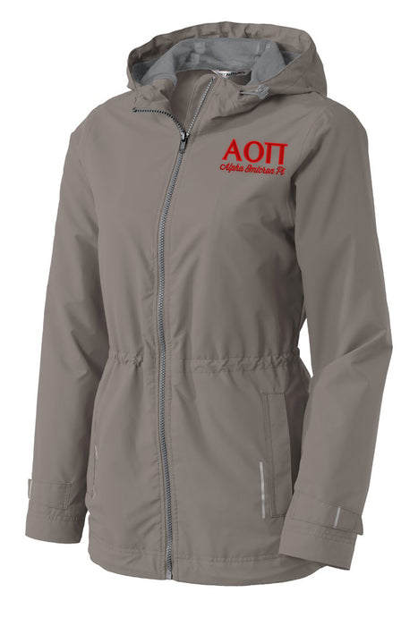 Alpha Omicron Pi Embroidered Ladies Northwest Slicker