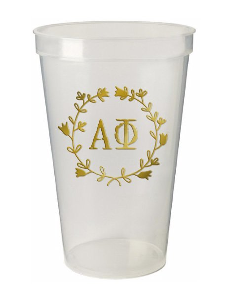 Alpha Phi Wreath Giant Plastic Cup